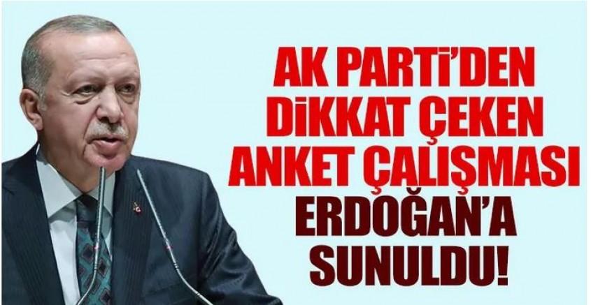 AK Parti'den dikkat çeken anket!