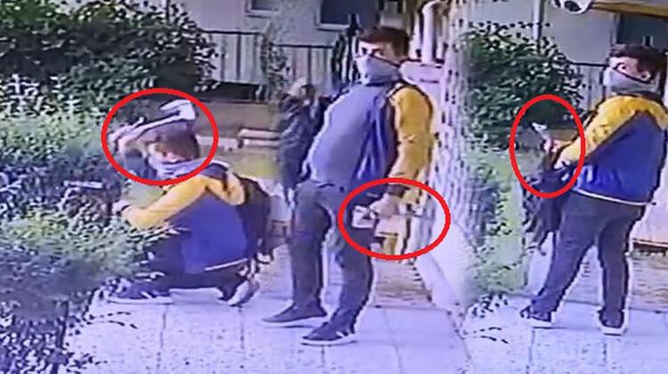 Baltalı hırsız kamerayı görünce kaçtı