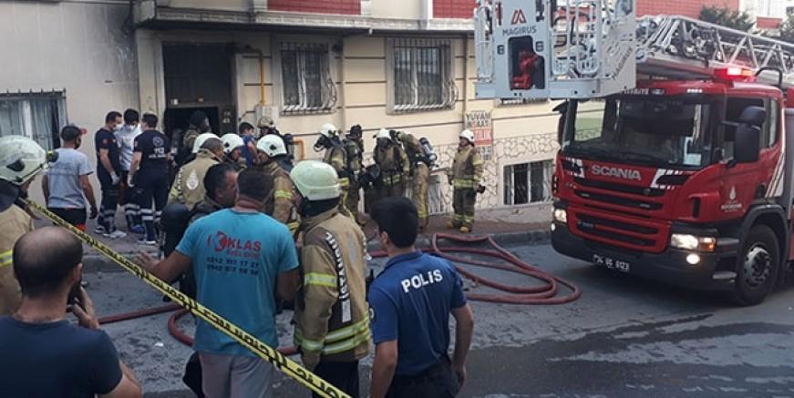İstanbul'da yangın faciası; iki ölü