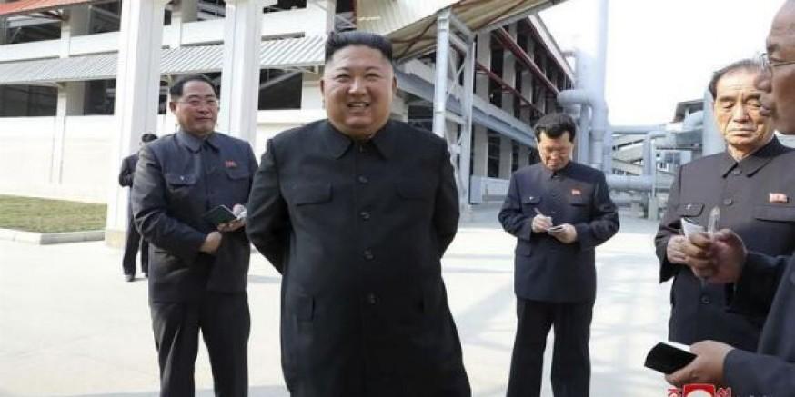 Kim Jong-un dünyayla dalga geçmiş... Gülerek ortaya çıktı